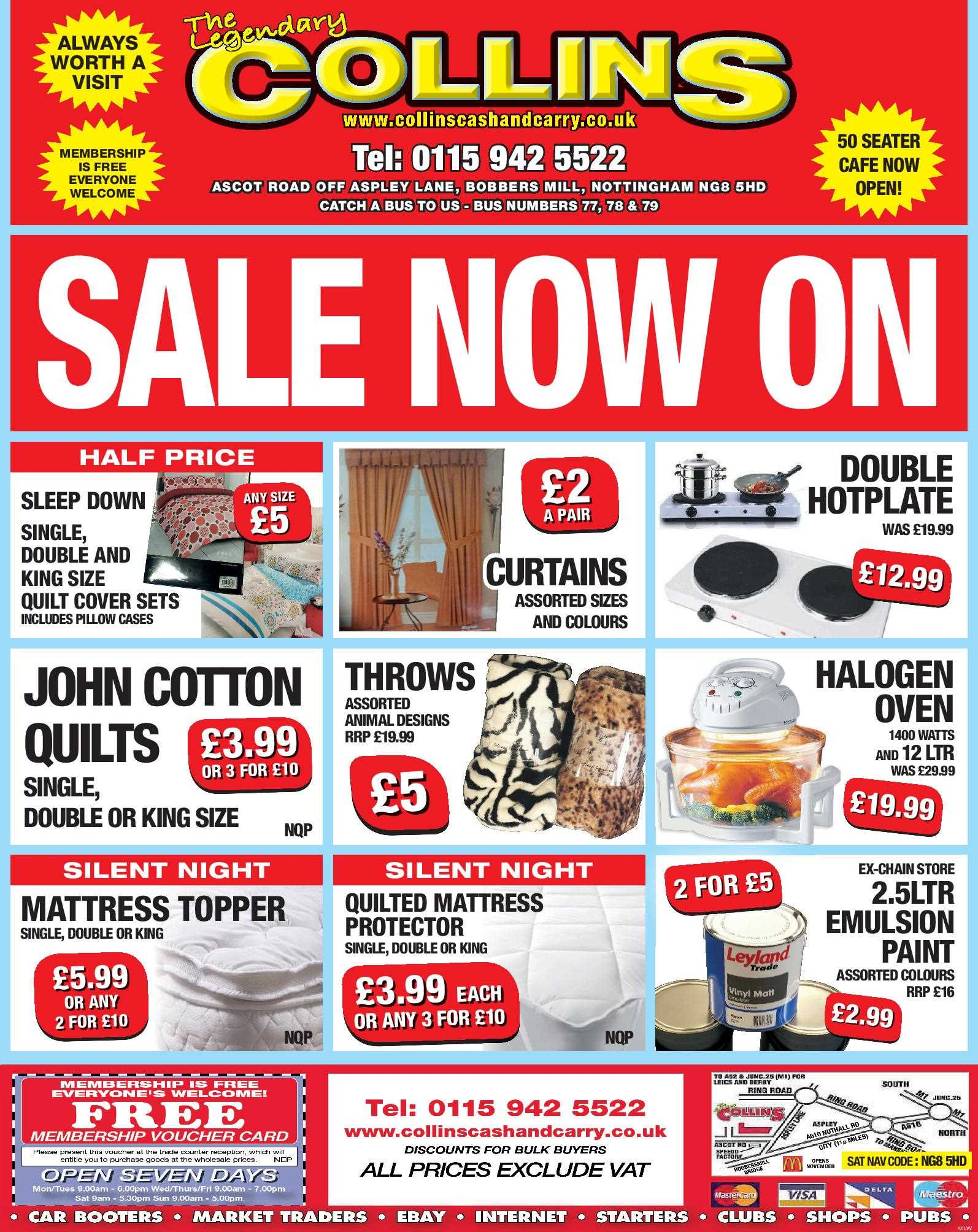 Nottingham Collins Cash and Carry Special Deals from 06-01-2017