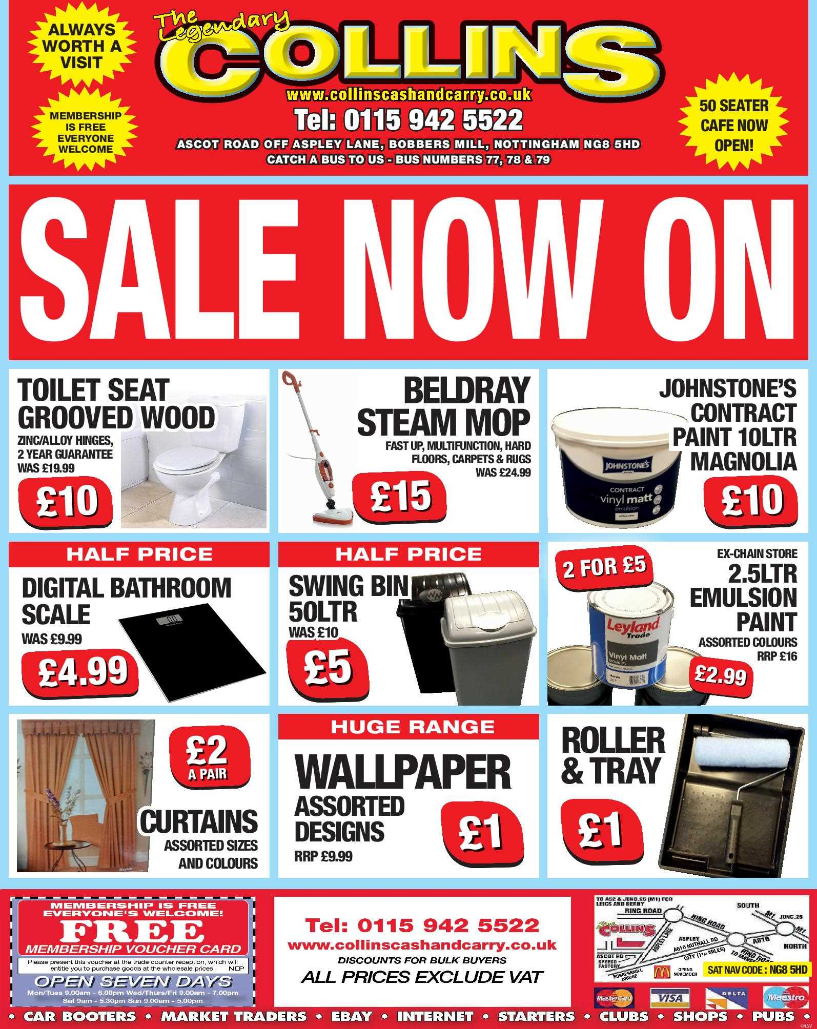 Nottingham Collins Cash and Carry Special Deals from 13-01-2017