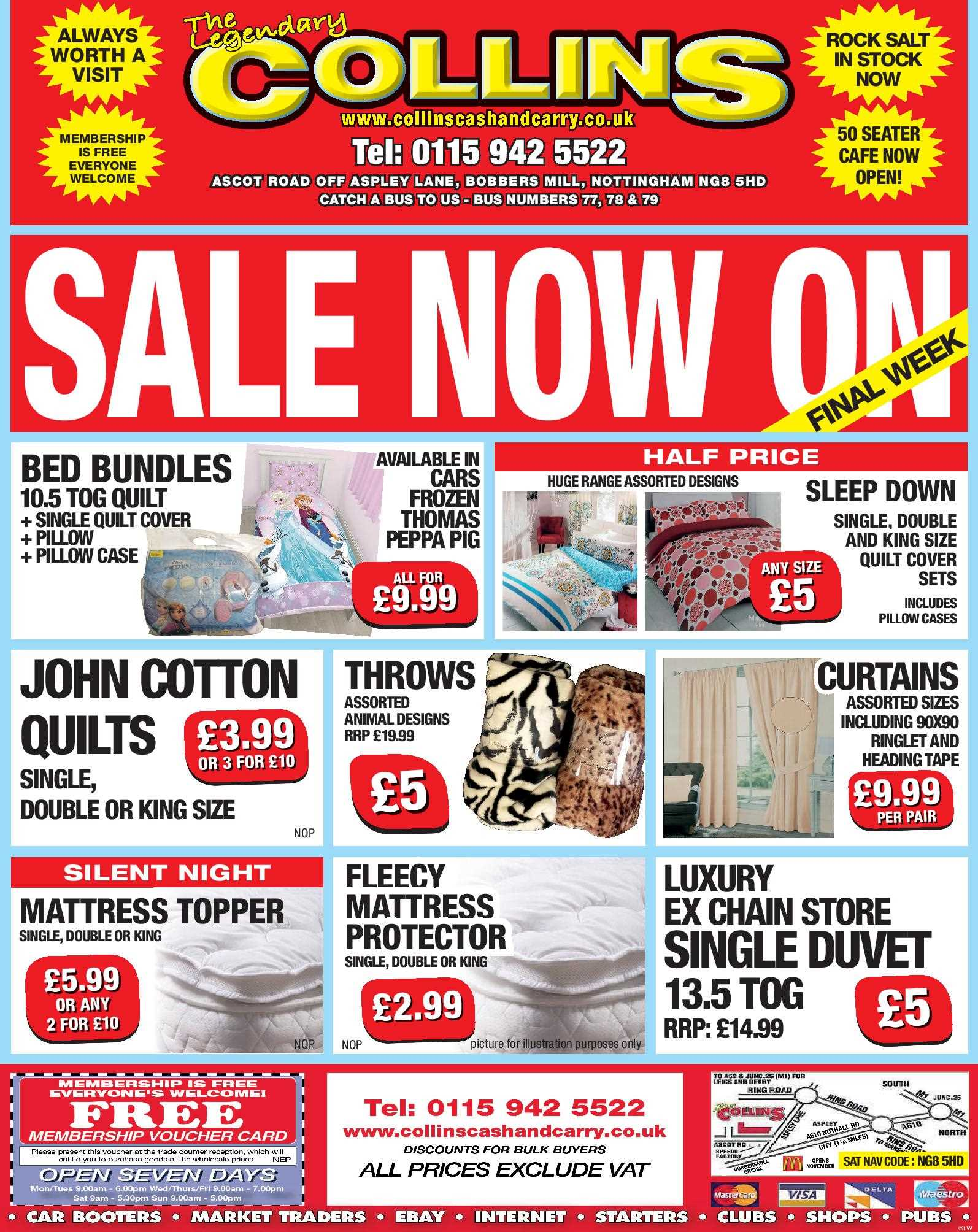 Nottingham Collins Cash and Carry Special Deals from 20-01-2017
