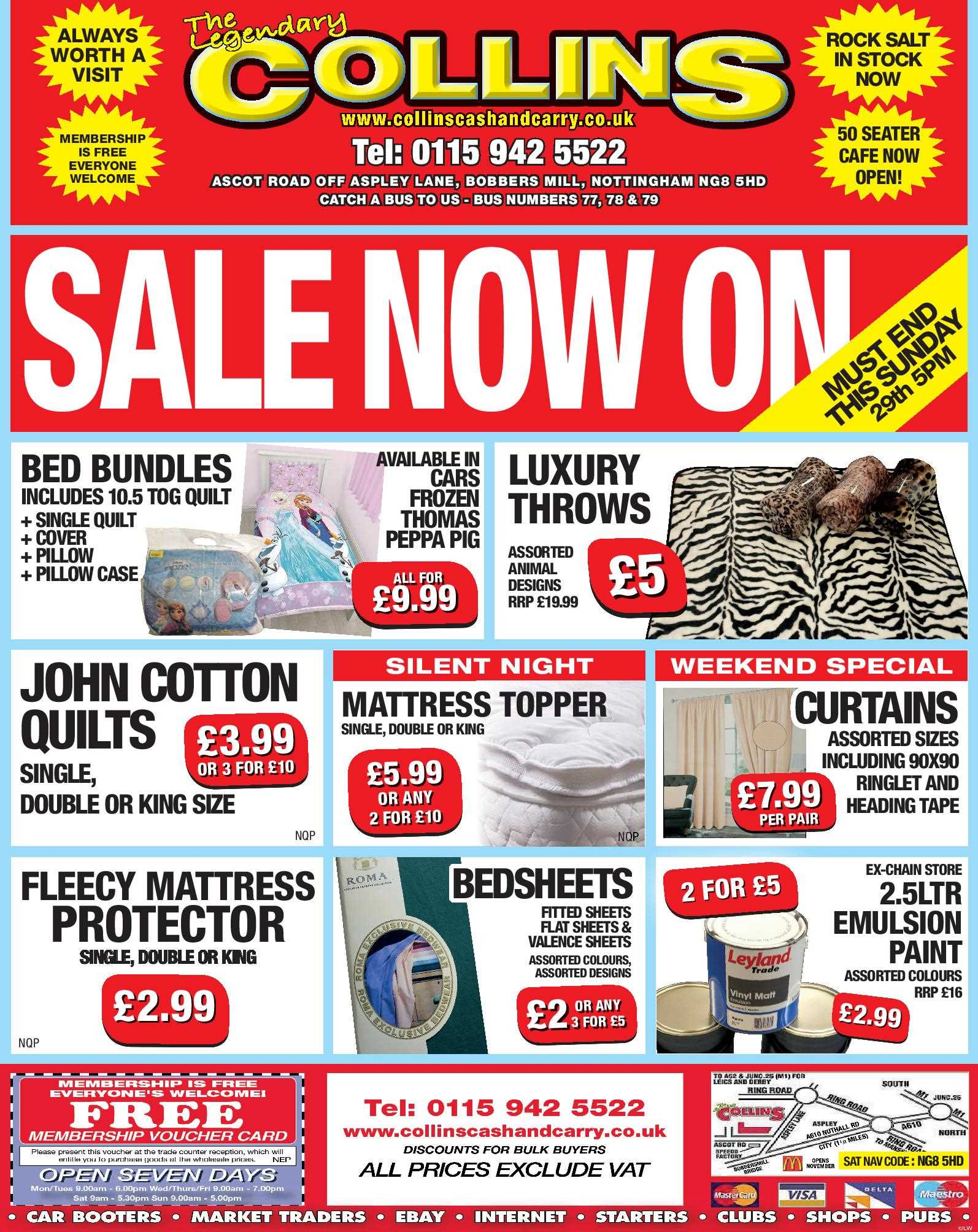 Nottingham Collins Cash and Carry Special Deals from 27-01-2017