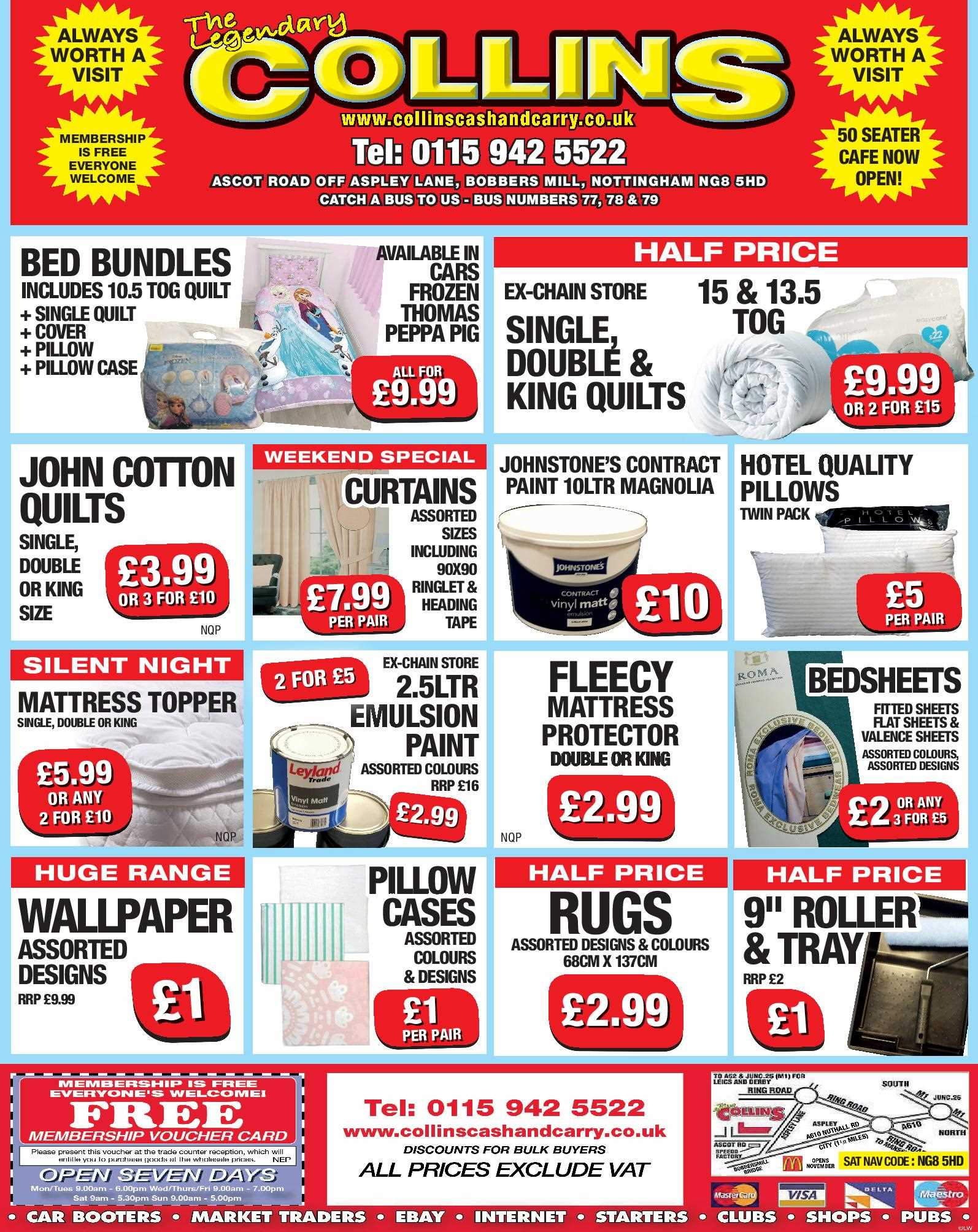 Nottingham Collins Cash and Carry Special Deals from 06-02-2017