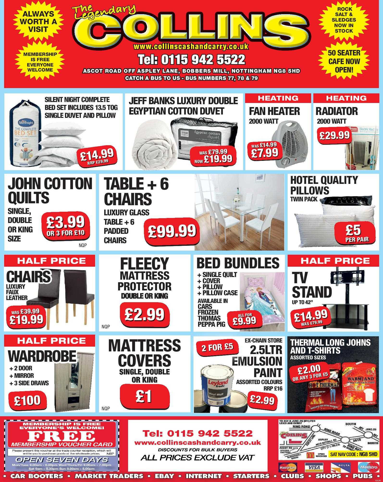 Nottingham Collins Cash and Carry Special Deals from 10-02-2017