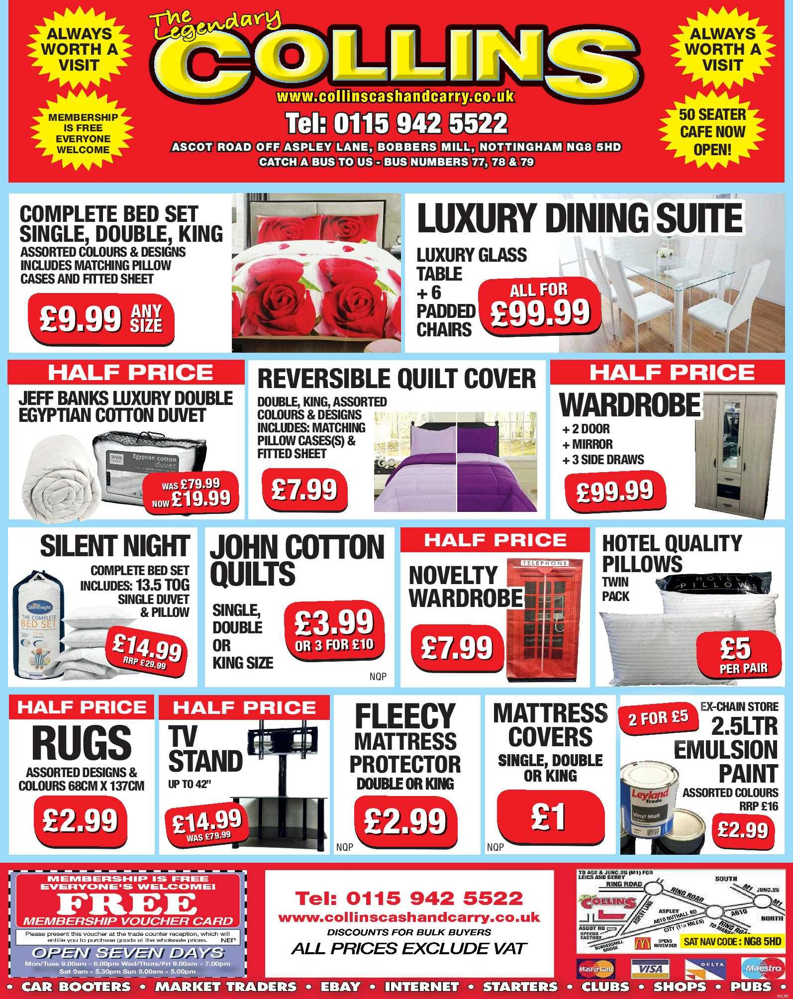 Nottingham Collins Cash and Carry Special Deals from 17-02-2017