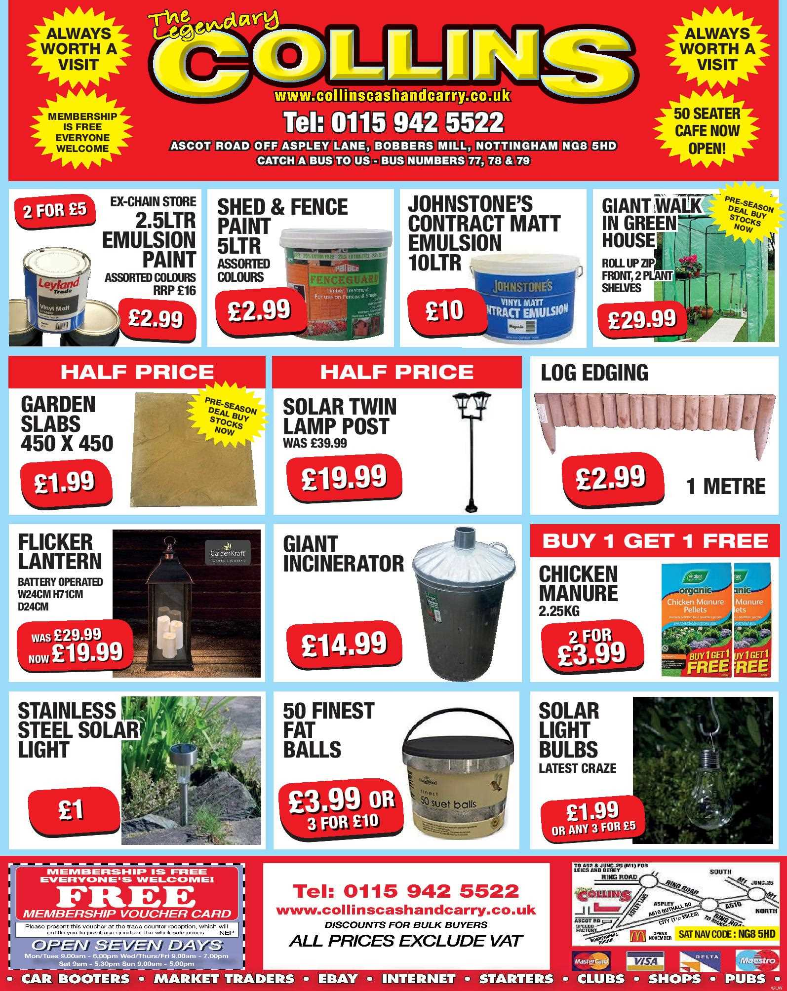 Nottingham Collins Cash and Carry Special Deals from 22-02-2017