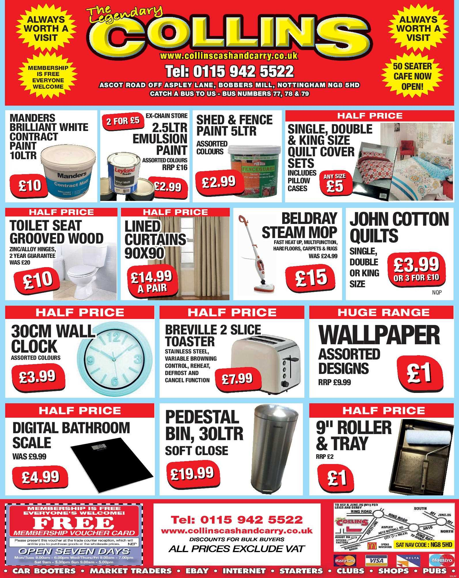 Nottingham Collins Cash and Carry Special Deals from 03-03-2017
