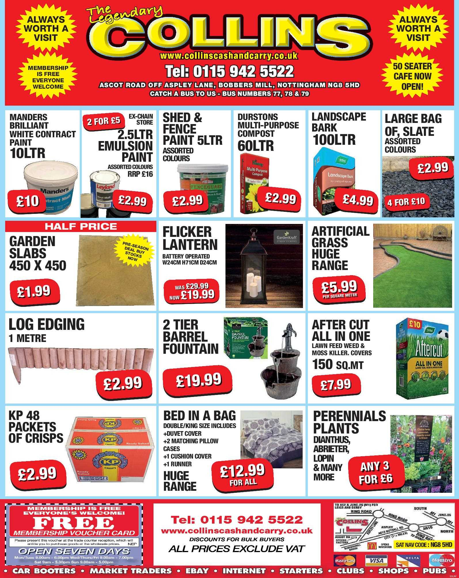 Nottingham Collins Cash and Carry Special Deals from 10-03-2017