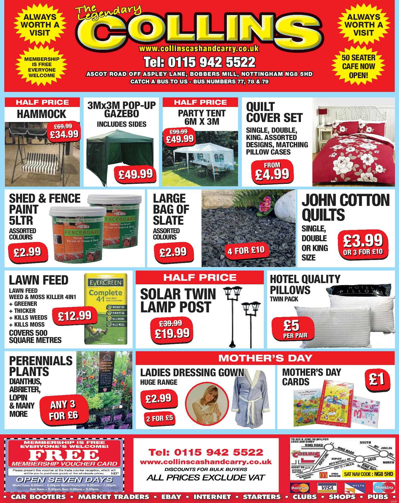 Nottingham Collins Cash and Carry Special Deals from 24-03-2017