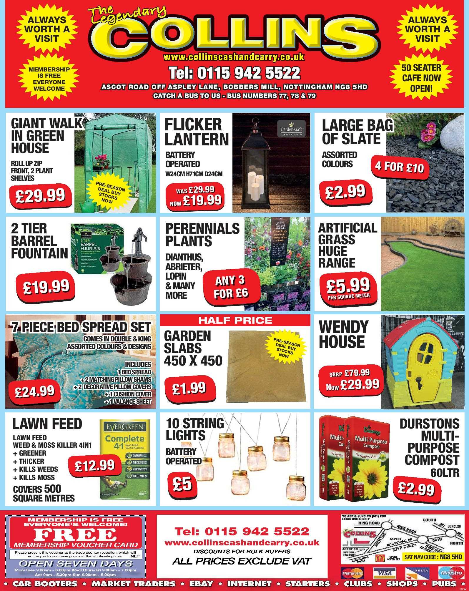 Nottingham Collins Cash and Carry Special Deals from 31-03-2017