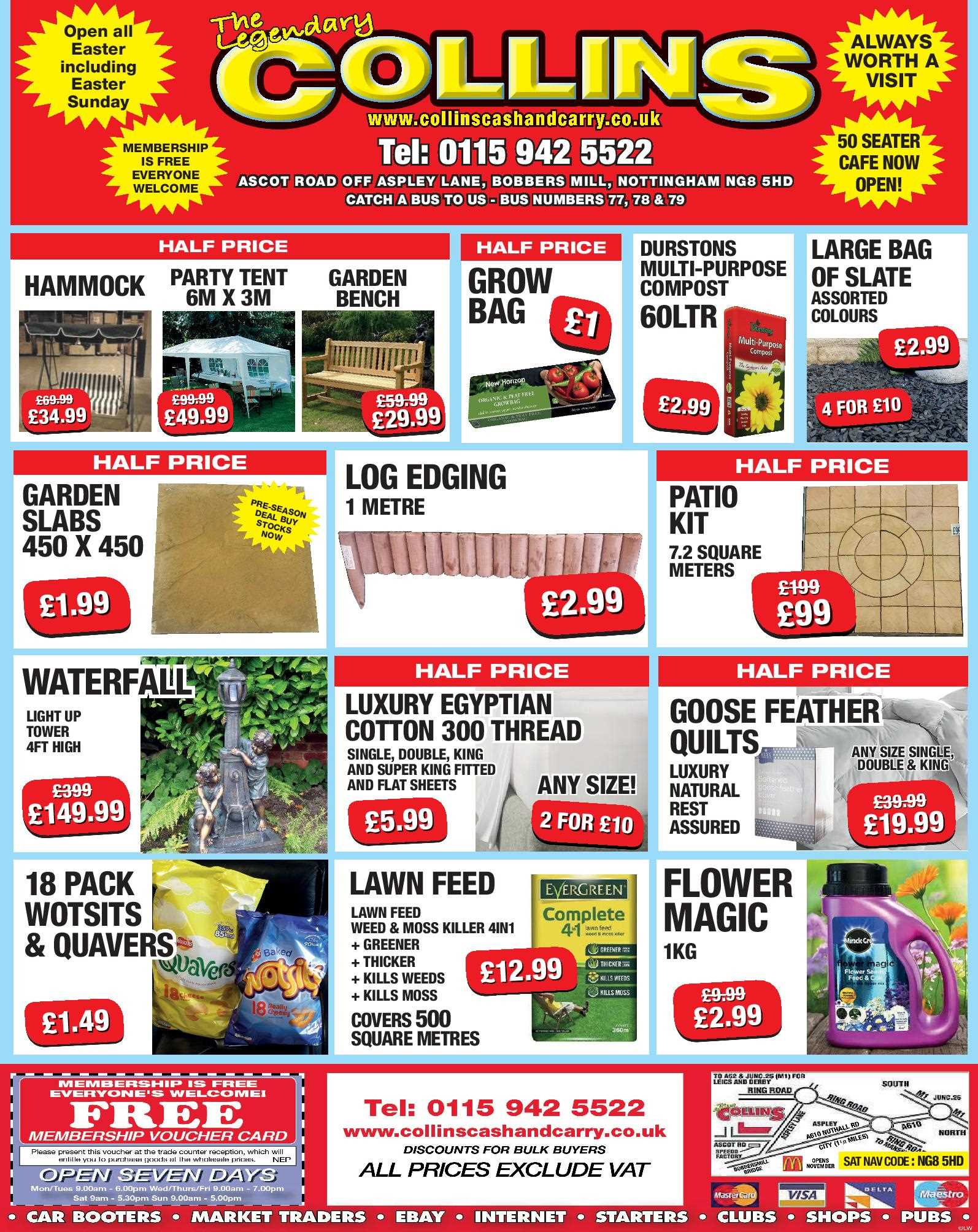 Nottingham Collins Cash and Carry Special Deals from 07-04-2017