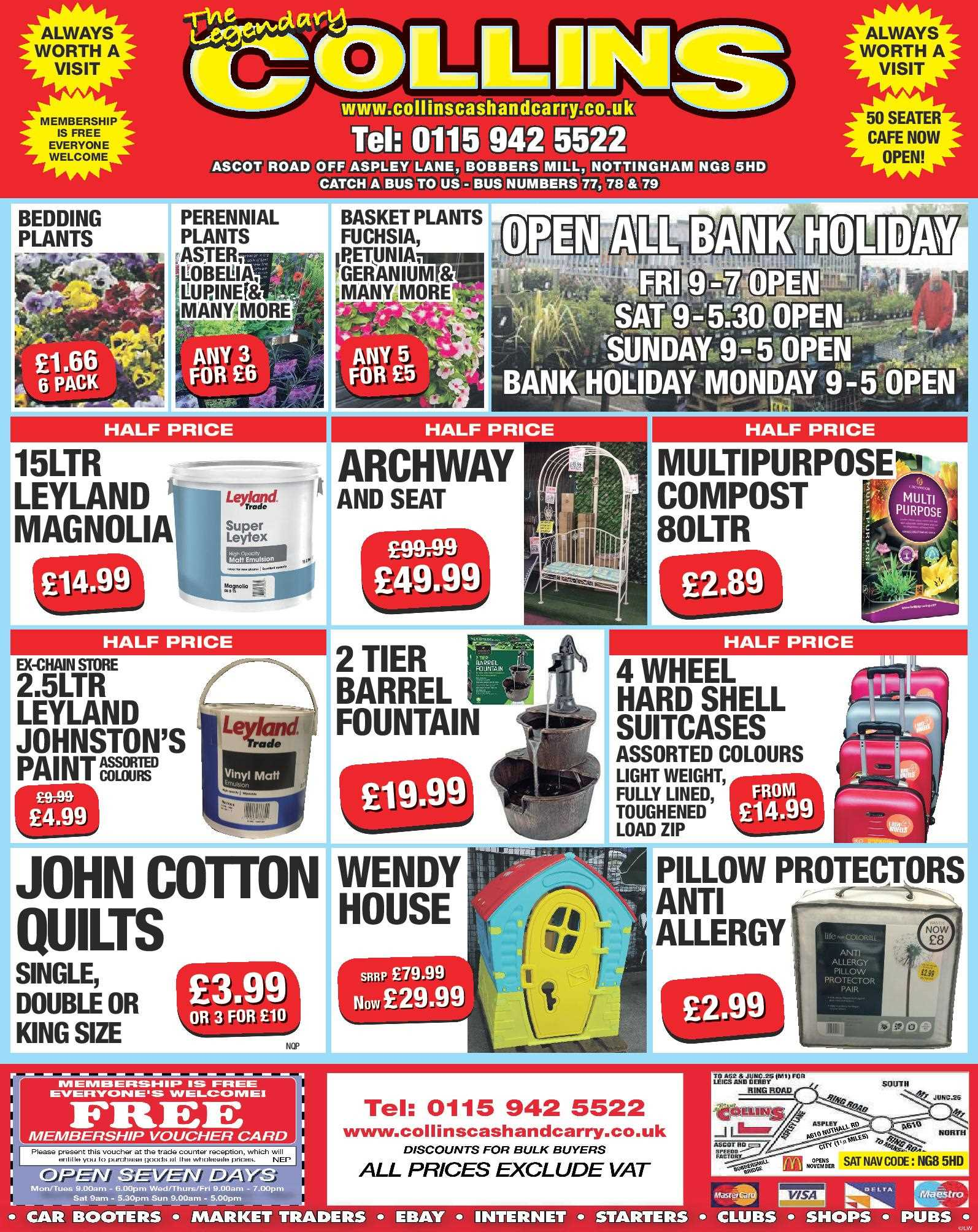 Nottingham Collins Cash and Carry Special Deals from 27-04-2017