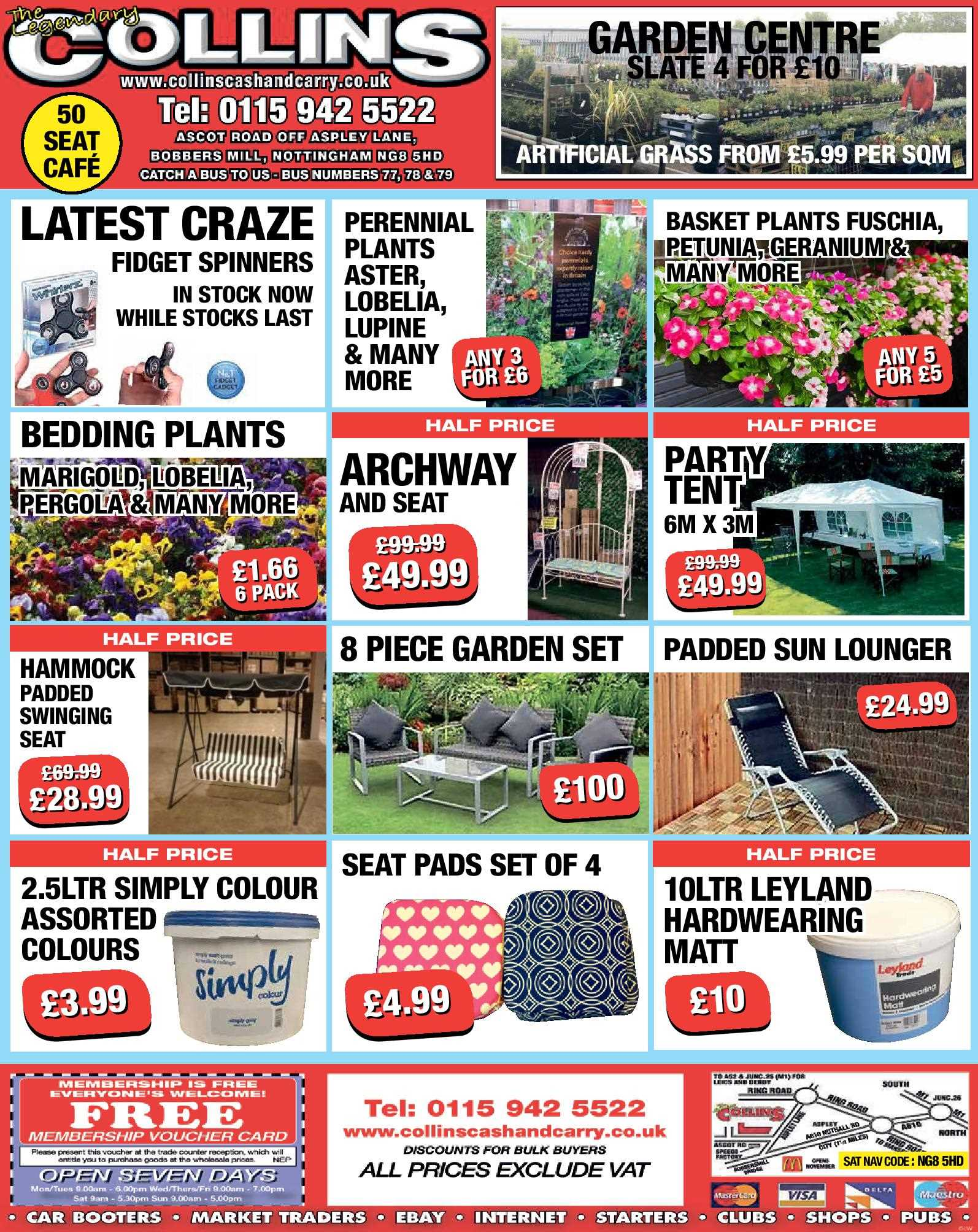 Nottingham Collins Cash and Carry Special Deals from 12-05-2017