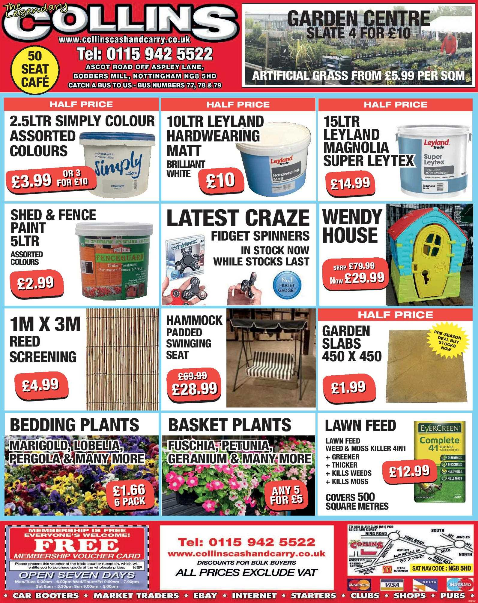 Nottingham Collins Cash and Carry Special Deals from 19-05-2017
