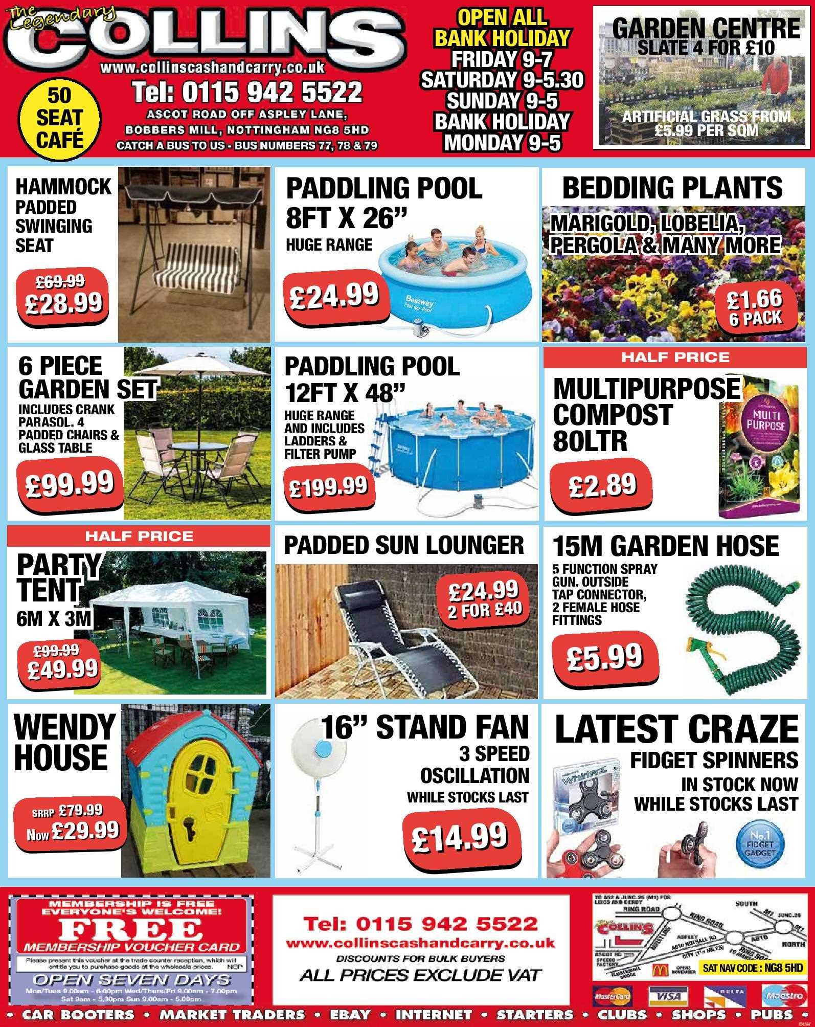 Nottingham Collins Cash and Carry Special Deals from 26-05-2017