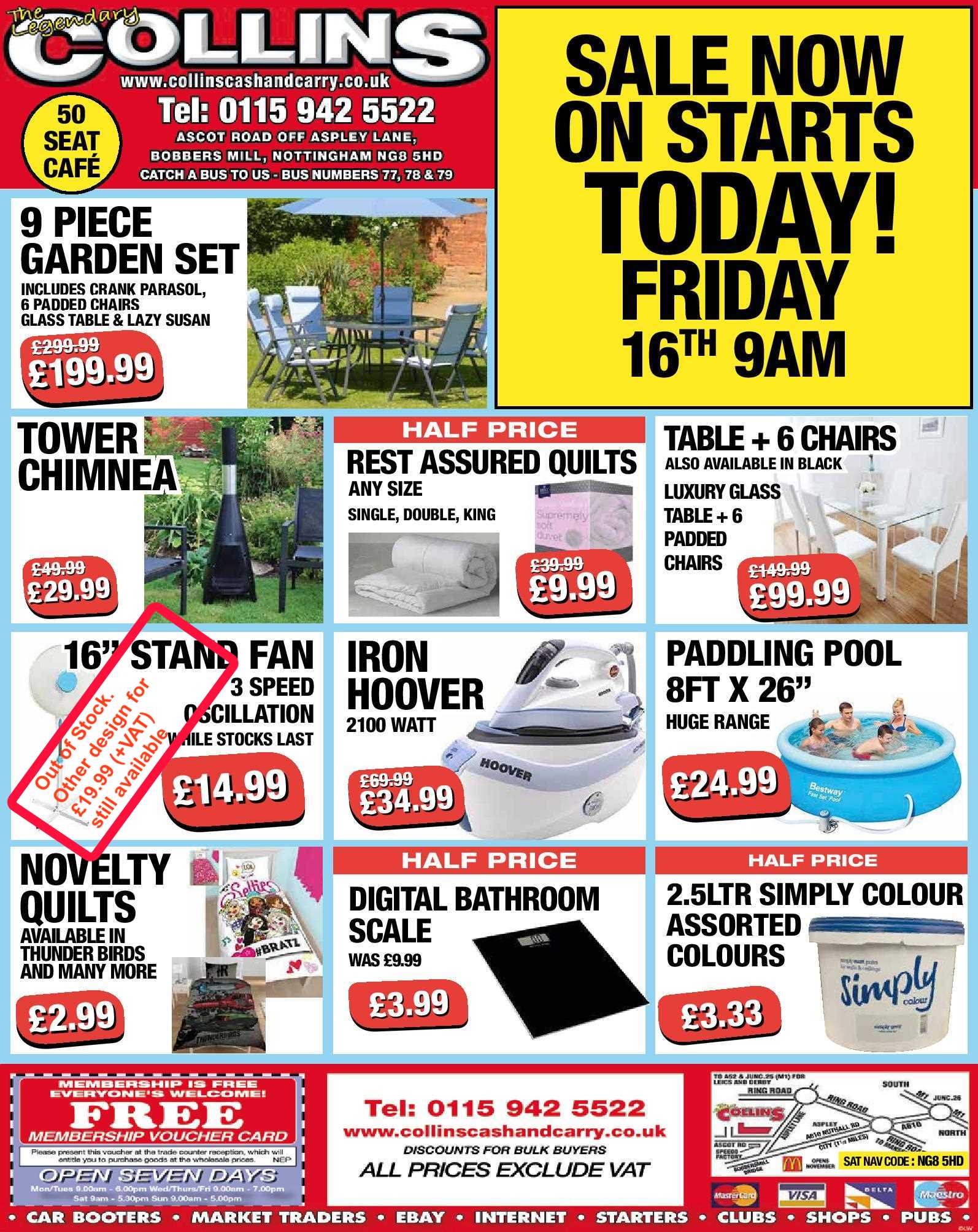 Nottingham Collins Cash and Carry Special Deals from 16-06-2017