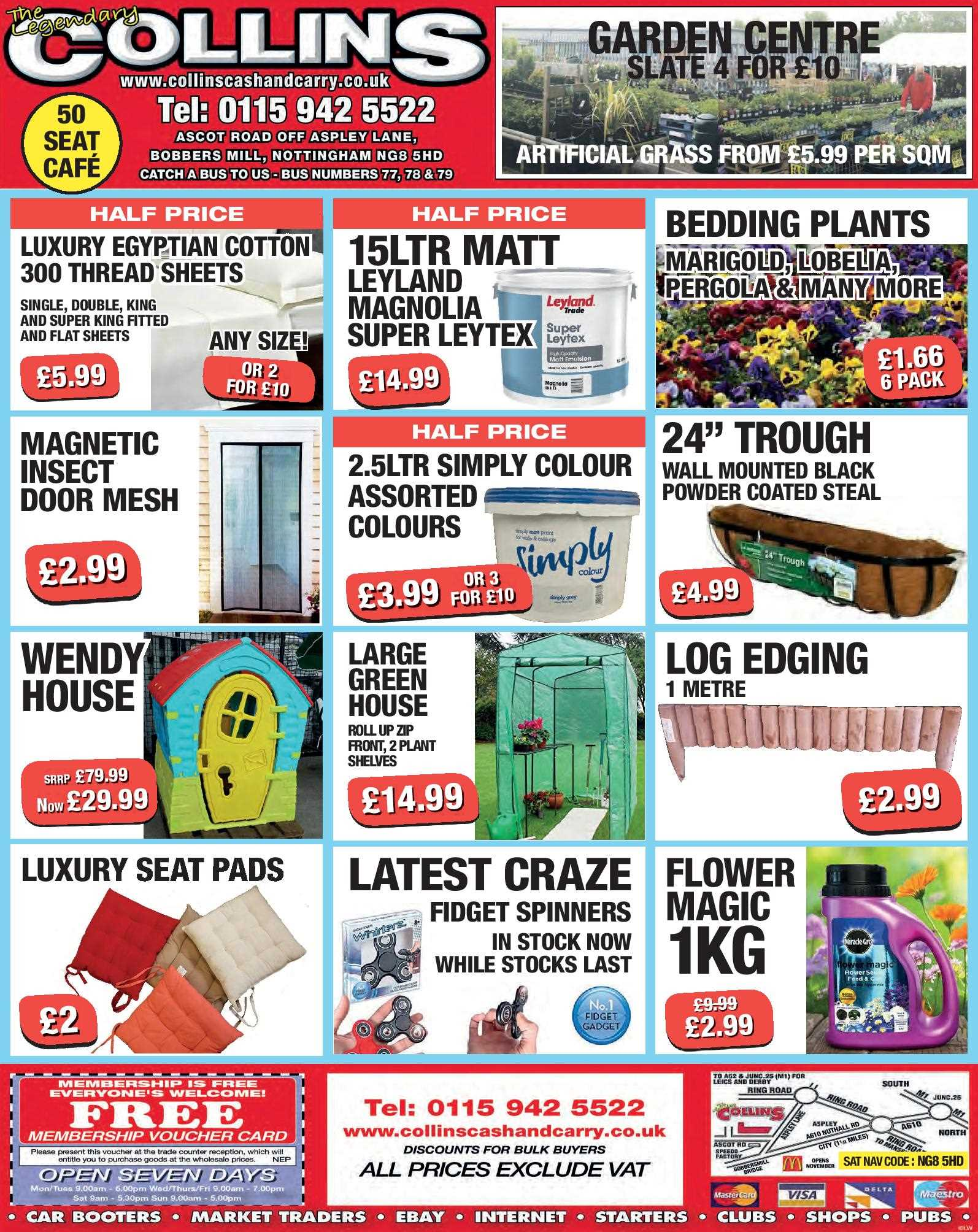 Nottingham Collins Cash and Carry Special Deals from 09-06-2017