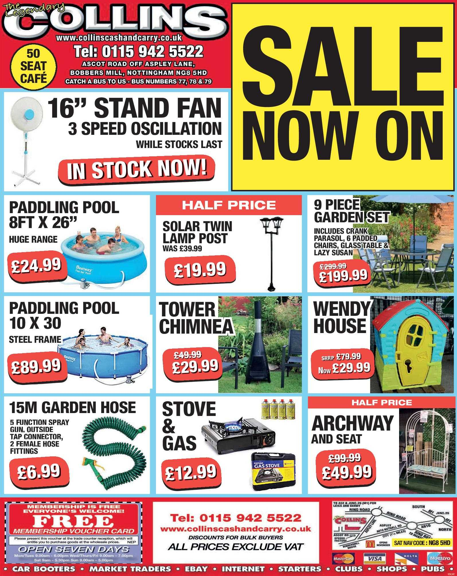 Nottingham Collins Cash and Carry Special Deals from 23-06-2017