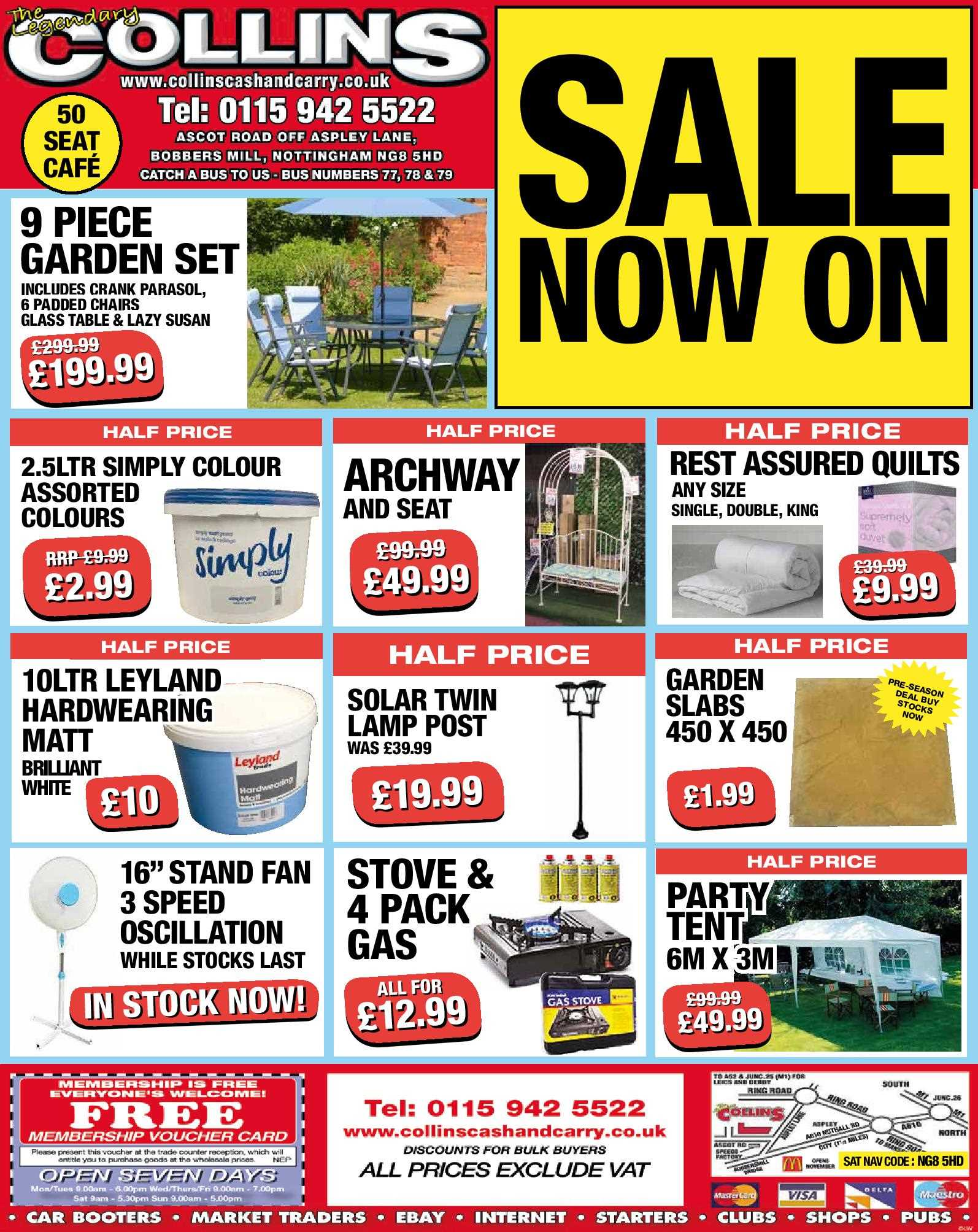 Nottingham Collins Cash and Carry Special Deals from 29-06-2017