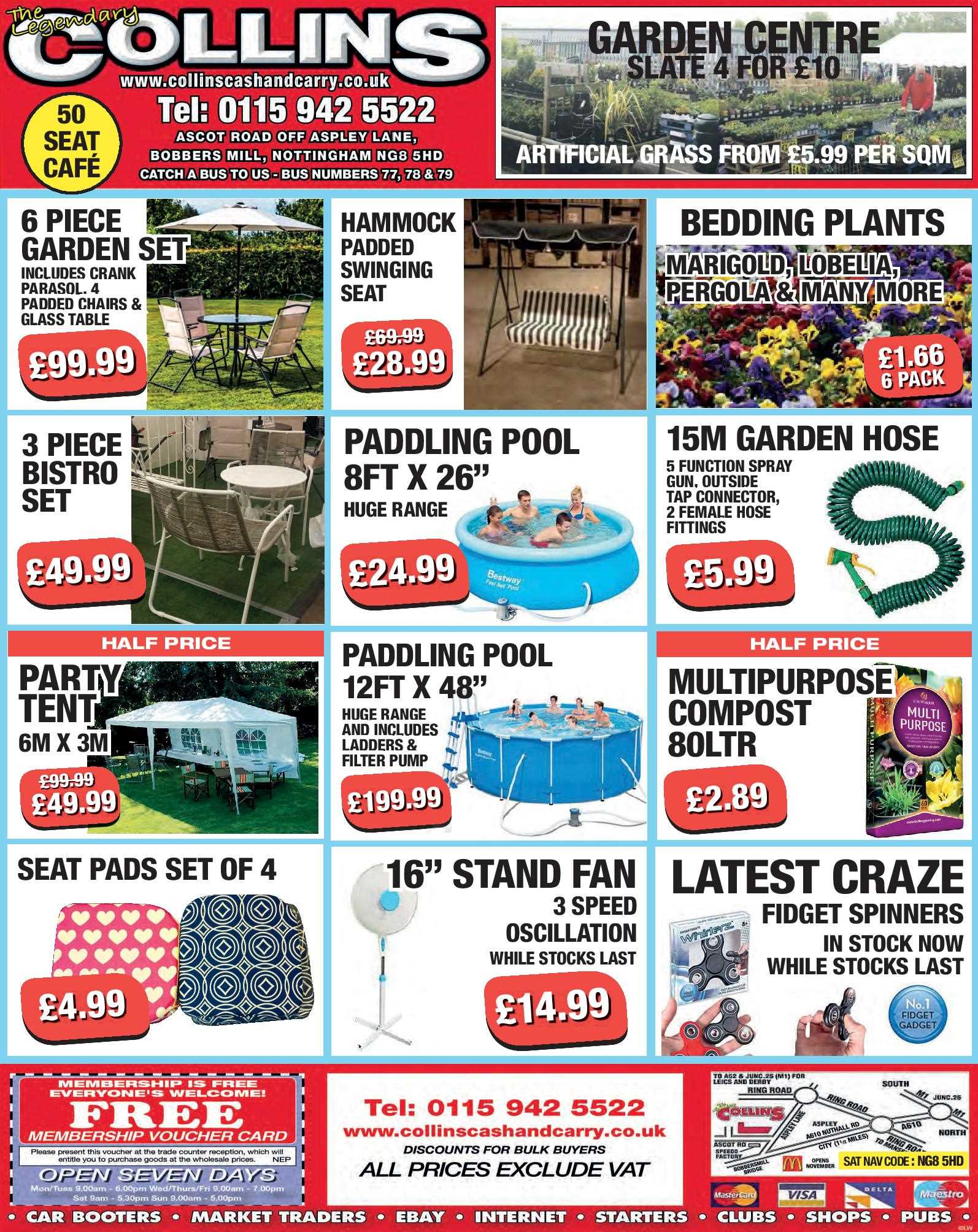Nottingham Collins Cash and Carry Special Deals from 02-06-2017