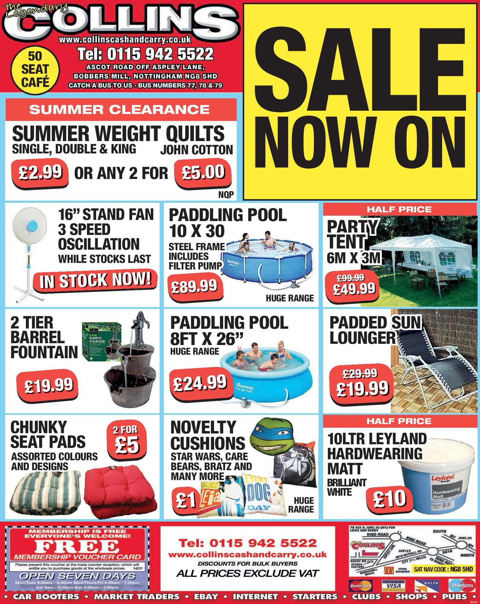 Nottingham Collins Cash and Carry Special Deals from 17-07-2017