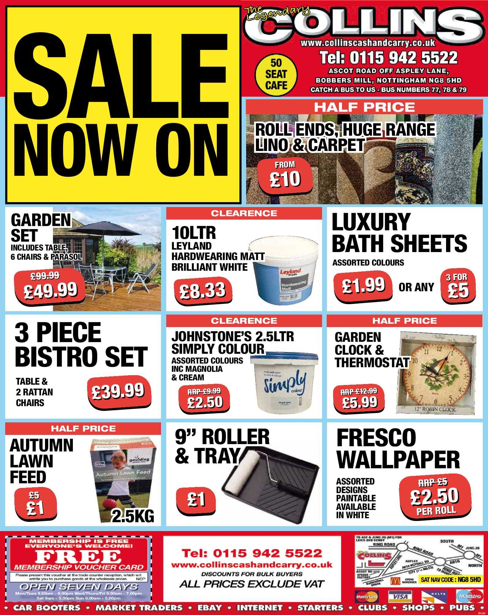 Nottingham Collins Cash and Carry Special Deals from 11-08-2017