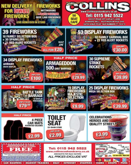 More Fireworks Special Offers at Collins Cash and Carry