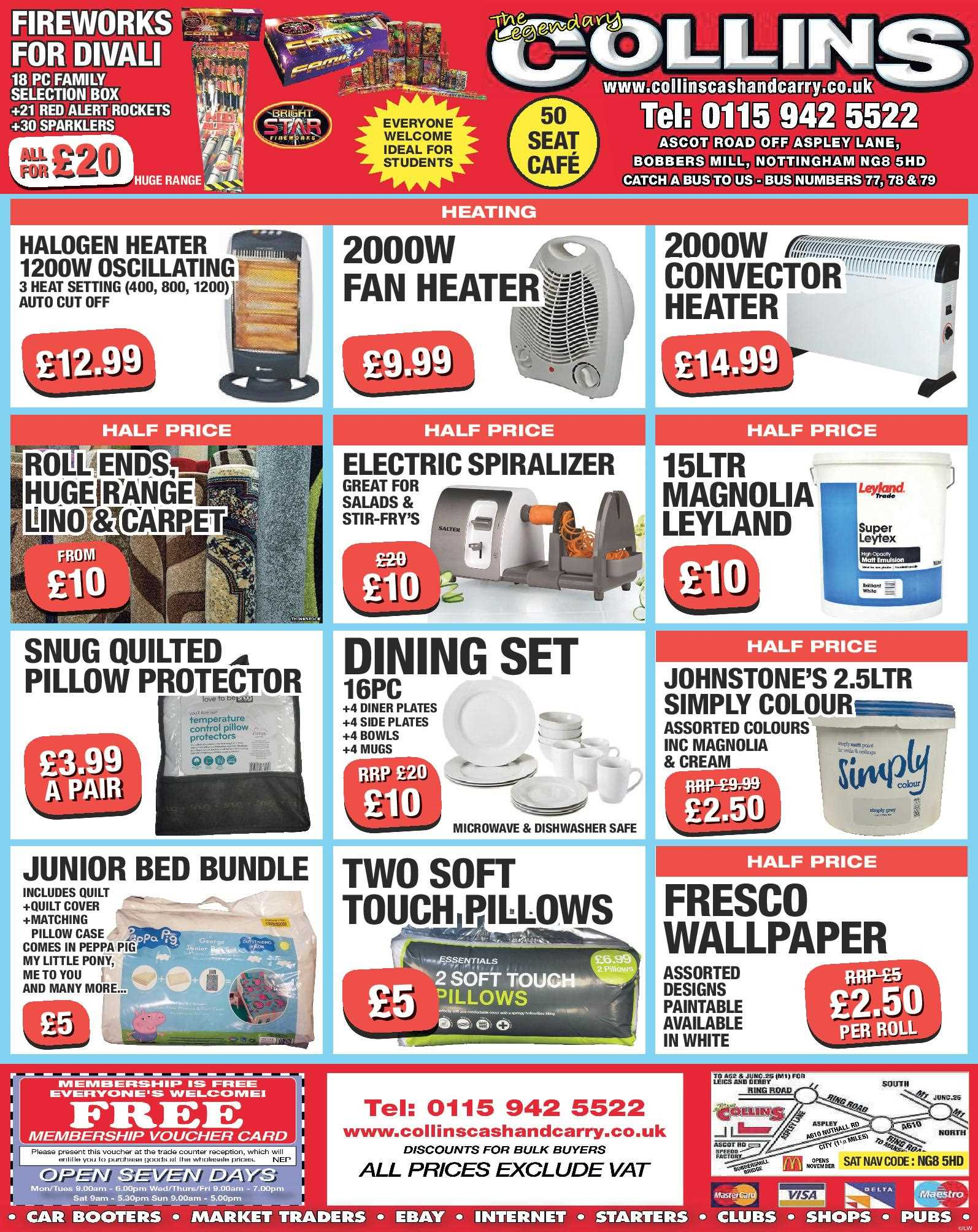 Nottingham Collins Cash and Carry Special Deals from 06-10-2017