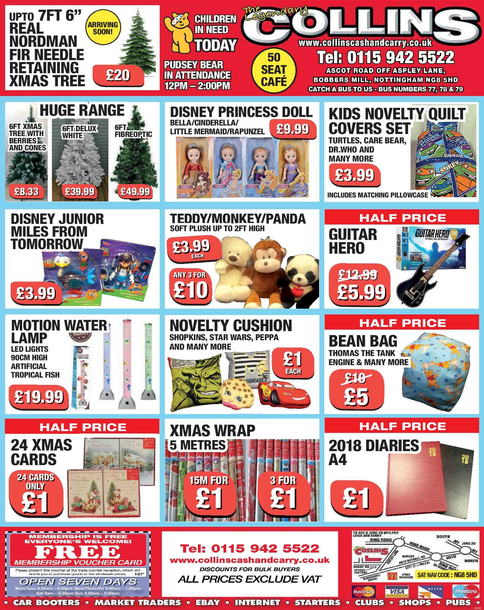 Nottingham Collins Cash and Carry Special Deals from 17-11-2017