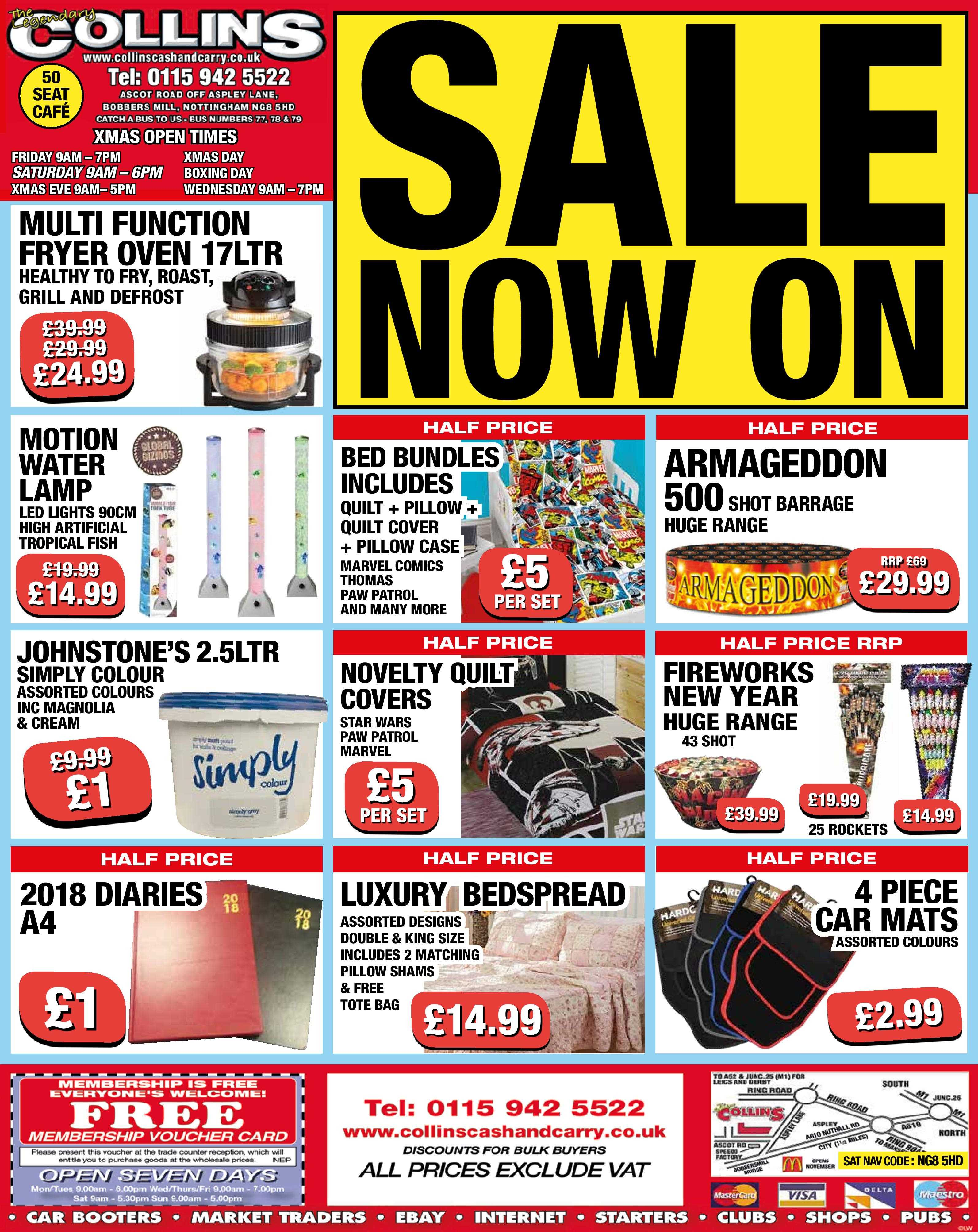 Xmas is almost there – Weekly Offers at Collins Cash and Carry