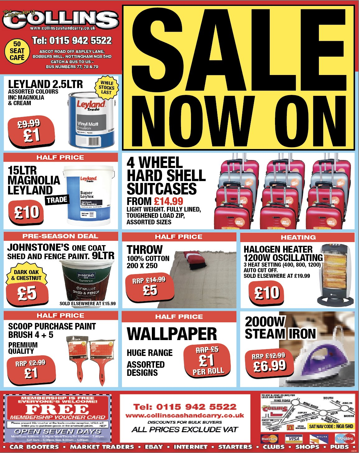 Middle of January  – Weekly Offers at Collins Cash and Carry