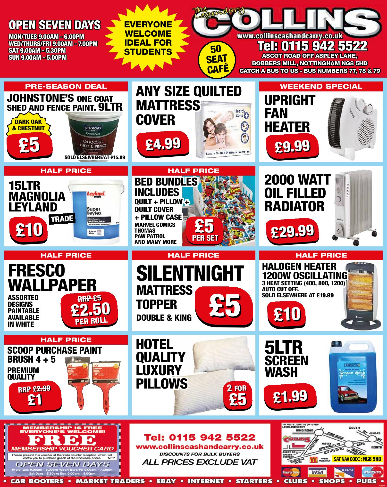 Feel the Heat – Weekly Offers at Collins Cash and Carry