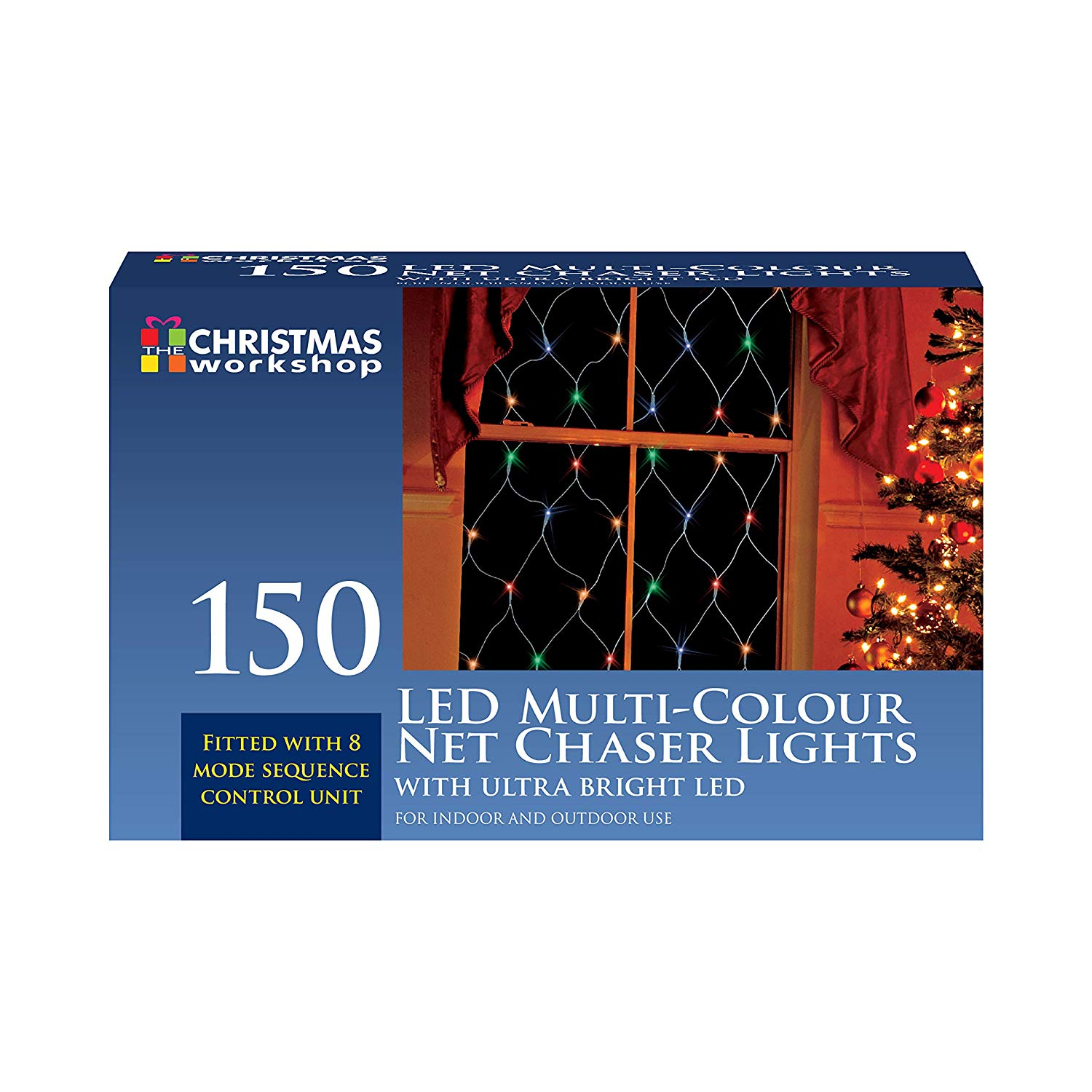 150 NET CHASER MODE BRIGHT LIGHT BULB CHRISTMAS WINDOW XMAS FOR INDOOR OUTDOOR